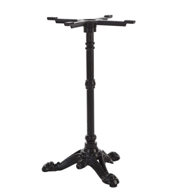 Baconi Black Cast Iron Ornate Bistro Base And Spider 3 Or 4 Leg - Dining Height