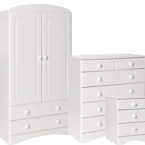 Spacone Pine Or White Bedside Drawers