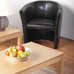 Paco Black Tub Chair