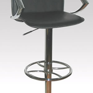 Rimini Swivel Breakfast Bar Stool With Arms And Backrest Height Adjustable