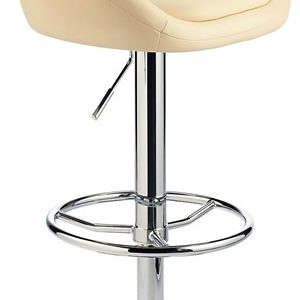 Prima Bar Kitchen Breakfast Bar Stool - Cream Padded Seat Chrome Or Brushed Frame