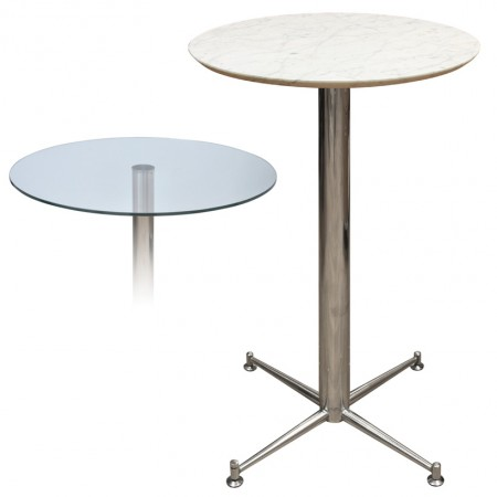 Payson Tall Poseur Kitchen Dining Table Marble Or Granite Table Top Table 4 Leg Chrome Or Stainless Steel Frame