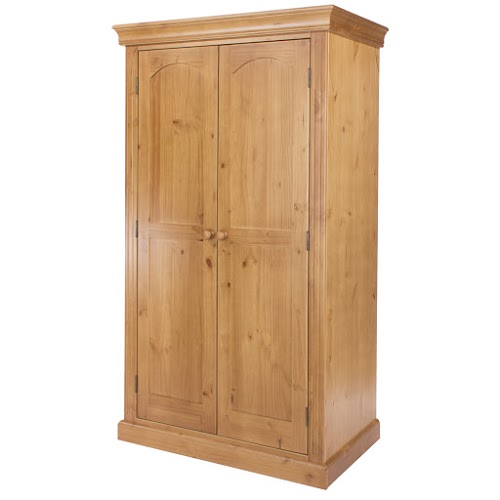 Abingdon Edwardian Style 2 Door Wardrobe With Shelf And Hanging Rail