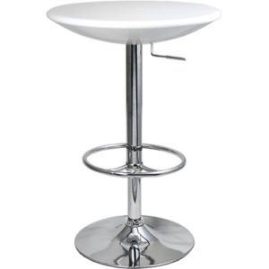 Podey Table Height Adjustable Tall Kitchen Bar Table In Black
