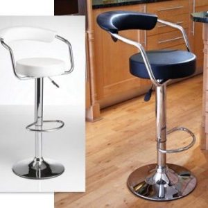 Patila Stool - Adjustable Faux Leather And Chrome