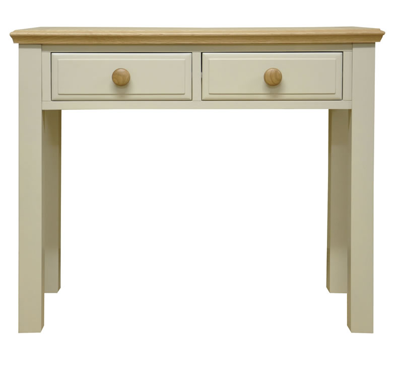 Preston Dressing Table Truffle Cream Painted Finish Country Style