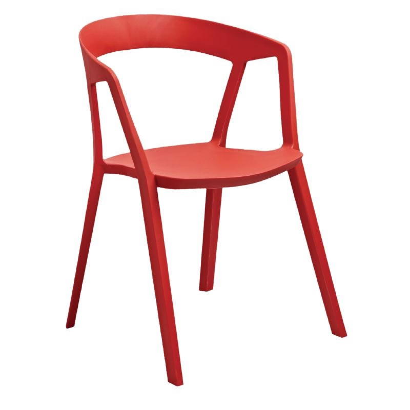 Dazey Red Polypropylene Kitchen Dining Indoor Outdppr Armchairs Stackable Fully Assembled Price Is For 4
