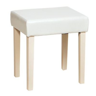 Colin Cream Padded And Cream Legs Dressing Table Stool