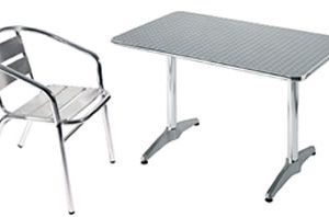 Ult Rectangular Table Outdoor All Weather With Chair