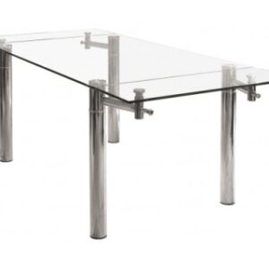 Marra Glass And Chrome Table - Extending