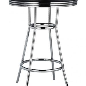 Dakota  American Diner Bar Table Tall Bar Poseur High Tall Table Chrome Frame