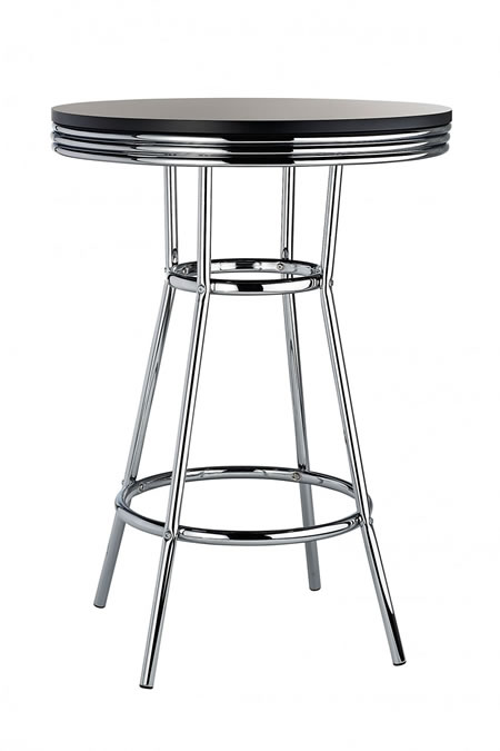 Dakota  American Diner Bar Table Tall Bar Poseur High Tall Table Chrome Frame