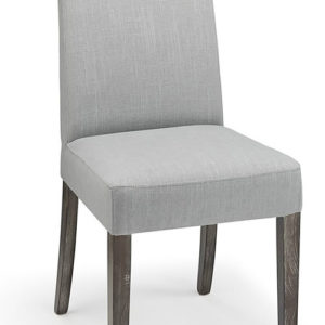 Mosoni Grey Fabric Seat Kitchen Dining Chair Wooden Frame Fully Assembled