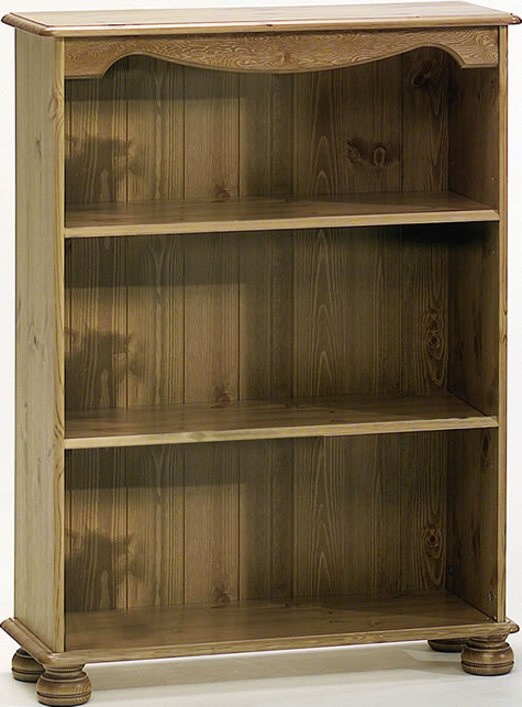 Rosemandy Antique Pine Small Bookcase 2 Shelves Danish Made Quality