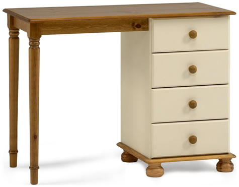 Rosemond Rich Dressing Table In Cream And Pine