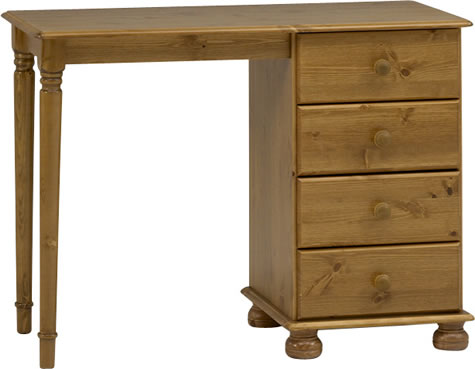 Rosemandy Antique Pine Dressing Table 4 Drawers Danish Made Quality