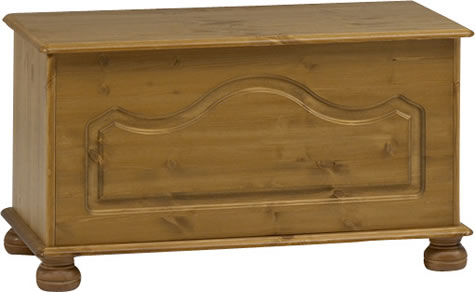 Rosemandy Antique Pine Ottoman Storage Box Danish Made Quality