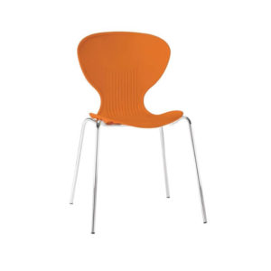 Ziponi Orange Stacking Plastic Side Kitchen Dining Chairs Price Is For 4