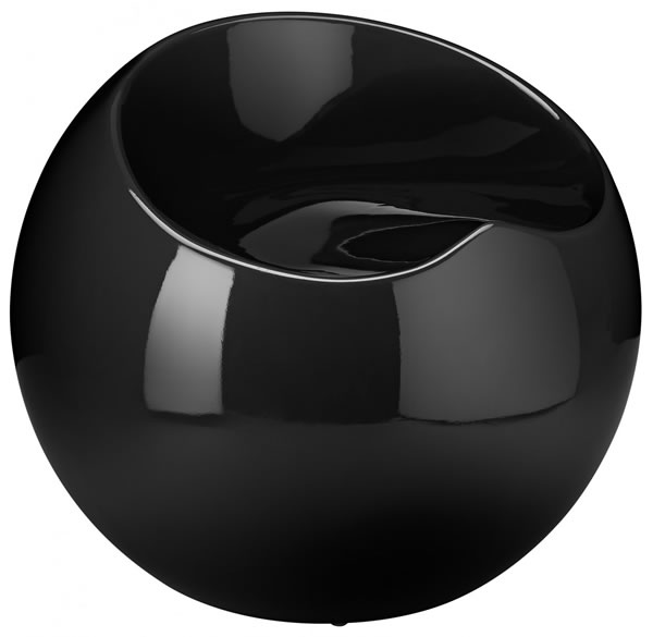Resone Retro Ball Stool Chair Black Modern