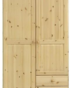 Remano Wardrobe - 2 Door With 3 Small Drawers