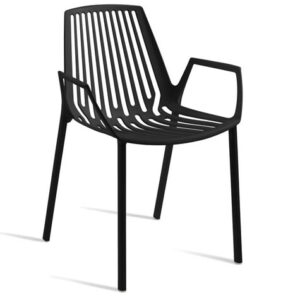 Rine Stackable Cast Aluminium Arm Chair - Commercial Quality Fully Assembled