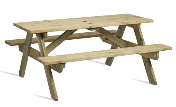 Zepini Picnic Garden Table Outdoor Bench - Seats 8