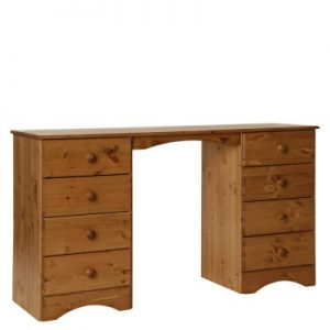 Carey Danish Made Lacquered Pine Double Dressing Table