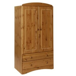 Carey Danish Made Pine Lacquered 2 Door 2 Drawer Wardrobe