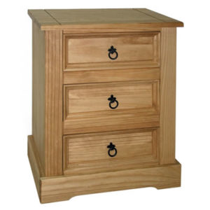 Sabino Antique Waxed Pine Bedside Cabinet