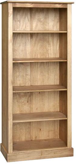 Sabino Antique Waxed Pine 5 Shelf Open Bookcase