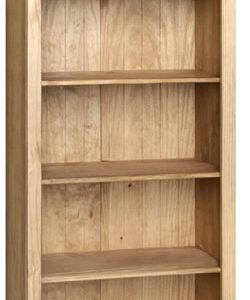 Sabino Antique Waxed Pine 5 Shelf Tall Bookcase