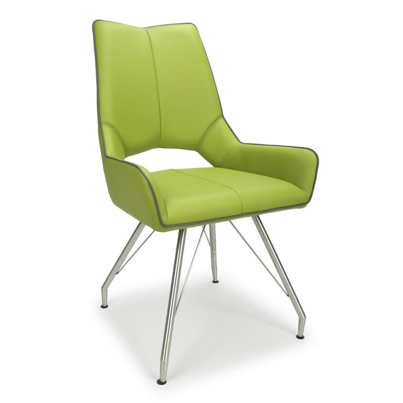 Grason Retro Kitchen Dining Chair Modern Brushed Padded Price Per Pair