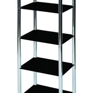 Lotus Shelving / Display Unit - Glass And Chrome - 5 Tiers