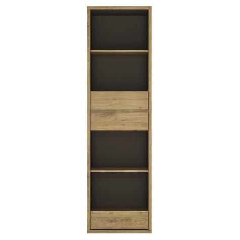 Tiamaria Glazed Wood Bookcase - 3 Drawer