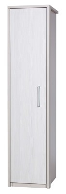 Ashley Quality Bedroom Single Wardrobe - Fully Assembled Cream Frame White Drawers