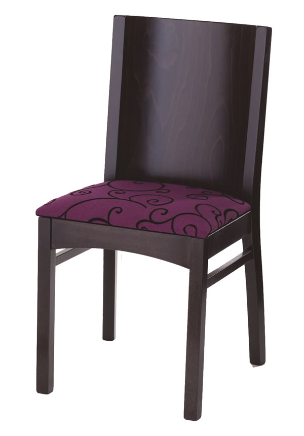 Sirun Curved Dining Chair With Wood Frame