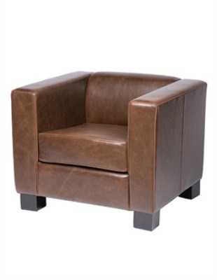 Callo Commercial Quality Brown Faux Leather Armchair