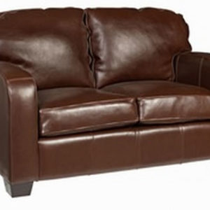 Malaga 2 Seater Brown Real Leather Commercial Quality Sofa