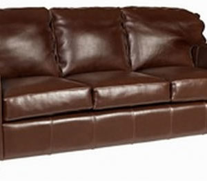 Malaga 3 Seater Brown Sofa Real Leather Commercial Quality