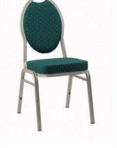 Stat Aluminium Stacking Chair - Upholstered