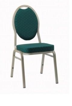 Stat Aluminium Stacking Chair - Upholstered