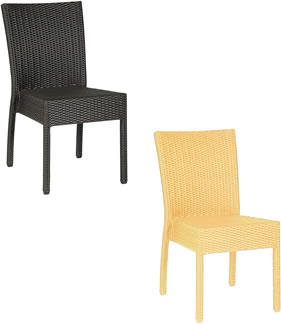 Harvey Stacking Rattan Chair All Weather