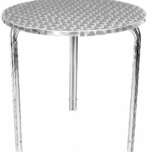 Tresick Stainless Steel Patio Table Easy Storage