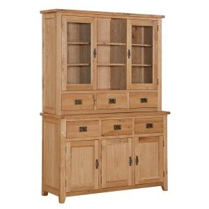 Starry Oak Display Unit And Sideboard - 3 Doors