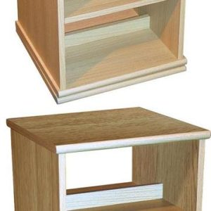 4 Tier Rotating Media Storage - Oak