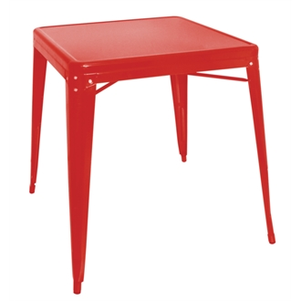 Shania Steel Square Bistro Table In Red Or White