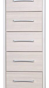 Fiona Quality Tall Boy Chest 5 Drawers Cream And Champagne Uk Made Fully Pre Assembled