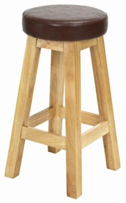Erin Kitchen Breakfast Bar Stool - Wood Frame Padded Seat Fully Assembled