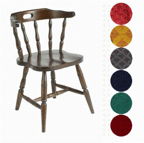 Allison Classic Farmhouse Spindle Style Dark Wood Kitchen Dining Chair - Padded/Unpadded Option Fully Assembled