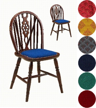 Windsor Wood Frame Kitchen Dining Chair Padded Or Wood Seat Fully Assembled
